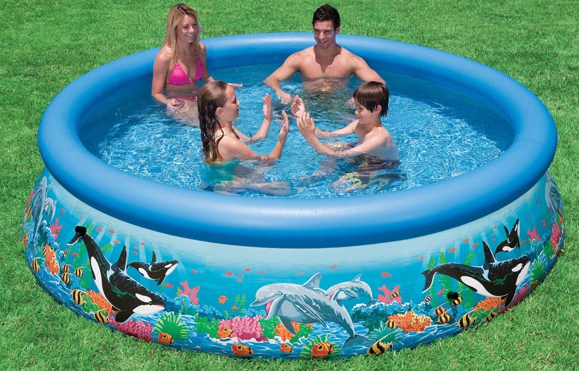 3 najlepsze baseny ogrodowe do zabawy dla dzieci for Zwembad vierkant intex