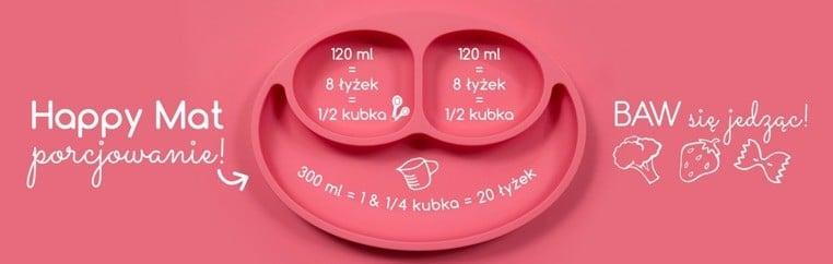 talerzyk silikonowy z podkładką dla dziecka